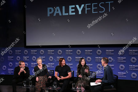Jeffrey Dean Morgan, Melissa McBride, Norman Reedus, Angela Kang (Exec. Producer) and Dalton Ross