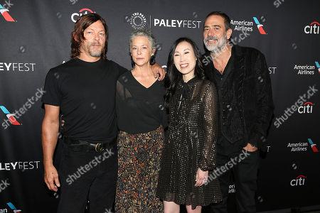Norman Reedus, Melissa McBride, Angela Kang (Exec. Producer) and Jeffrey Dean Morgan