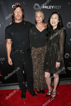 Norman Reedus, Melissa McBride and Angela Kang (Exec. Producer)