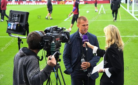 Stock Picture of Steve Sidwell interviewed for BeIn Sports