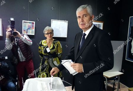 Stock Image of Dragan Covic, candidate for Presidency in Bosnia and Herzegovina, casts his vote in the country's general elections in Mostar, Bosnia and Herzegovina, 07 October 2018.  More than three million Bosnian citizens are expected to vote in the country's general elections. In the eighth elections in Bosnia, 72 political parties and 15 candidates for the three members of the Bosnian Presidency were registered.