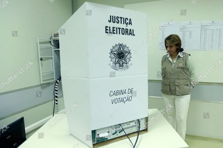 The head of the OAS Observer Mission in Brazil, former Costa Rican president Laura Chinchilla, visits a voting center in Brasilia, Brazil, 07 October 2018. A total of 147.3 million Brazilian voters are called to elect their next president in a two-round election in which Brazilian socialist Fernando Haddad and extreme right-winger Jair Bolsonaro are the two main candidates are contesting to become the new leader of the country. The second round of the presidential election will be held on 28 October.