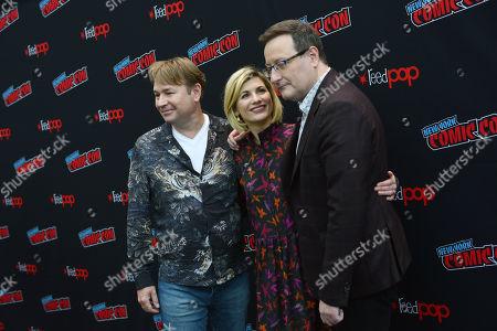 Matt Strevens, Jodie Whittaker and Chris Chibnall