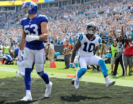 Editorial picture of Giants Panthers Football, Charlotte, USA - 07 Oct 2018