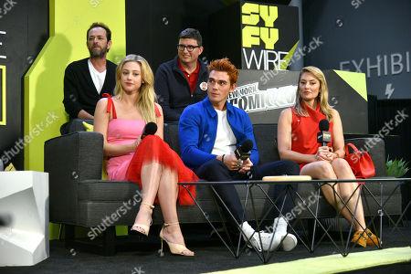 Roberto Aguirre-Sacasa, Luke Perry, JK Apa, Lili Reinhart and Madchen Amick
