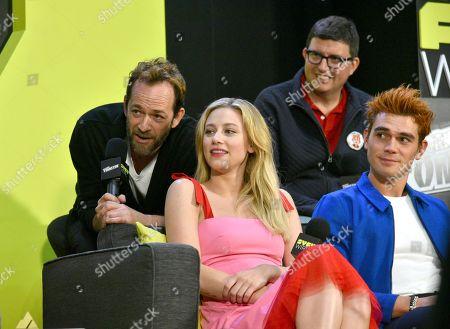 Luke Perry, Lili Reinhart, Roberto Aguirre-Sacasa and KJ Apa