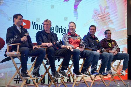 Ralph Macchio, William Zabka, Josh Heald, Jon Hurwitz and Hayden Schlossberg