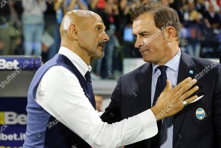 Greet stock pictures editorial images and stock photos shutterstock spals head coach leonardo semplici r and inters head coach luciano spalletti greet each m4hsunfo