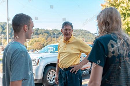 Election 2018 Manchin. Senator Joe Manchin talks to college students Corey Bunch and Madison Riley of Clarksburg, W.Va. about his recent vote in the Senate to confirm Brett Kavanaugh, at IHOP Charleston W.Va