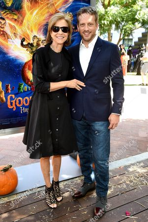 Stock Picture of Deborah Forte and Ari Sandel attend a special screening of Columbia Pictures and Sony Pictures Animations ' 'Goosebumps 2: Haunted Halloween'' on the Sony Pictures Studio Lot.