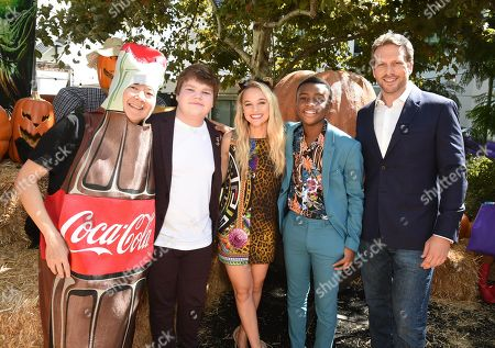 Ken Jeong, Jeremy Ray Taylor, Madison Iseman, Caleel Harris, and Ari Sandel attend a special screening of Columbia Pictures and Sony Pictures Animation's 'Goosebumps 2: Haunted Halloween' on the Sony Pictures Studio Lot.
