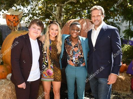Jeremy Ray Taylor, Madison Iseman, Caleel Harris, and Ari Sandel attend a special screening of Columbia Pictures and Sony Pictures Animation's 'Goosebumps 2: Haunted Halloween' on the Sony Pictures Studio Lot.