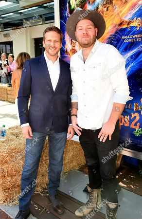 Ari Sandel and Dominic Lewis attend a special screening of Columbia Pictures and Sony Pictures Animation's 'Goosebumps 2: Haunted Halloween'on the Sony Pictures Studio Lot.