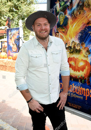 Stock Image of Dominic Lewis attends a special screening of Columbia Pictures and Sony Pictures Animation's 'Goosebumps 2: Haunted Halloween'on the Sony Pictures Studio Lot.