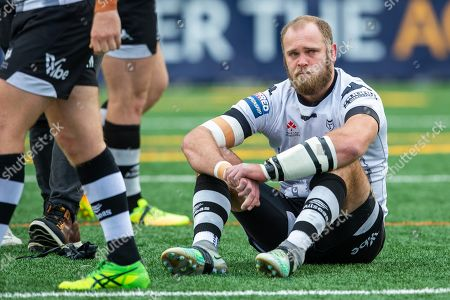 Richard Whiting #22 of the Toronto Wolfpack reacts after losing to the London Broncos in the One Million Pound Match.