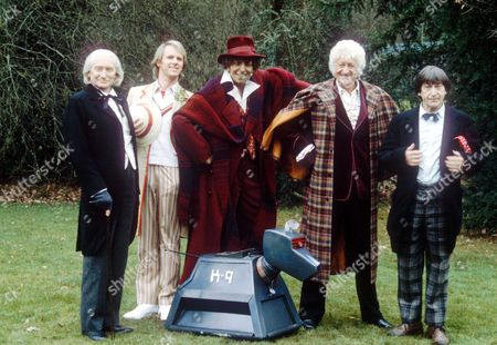 RICHARD HURNDALL (AS WILLIAM HARTNELL) , PETER DAVISON, A MODEL OF TOM BAKER, JON PERTWEE AND PATRICK TROUGHTON