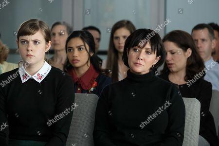 Chanelle Peloso as Nikki Farrow, Louriza Tronco as Alexa, Shannen Doherty as Laura Collins