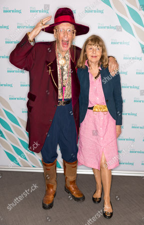"""John McCririck and wife Jenny known as """"The Booby"""""""