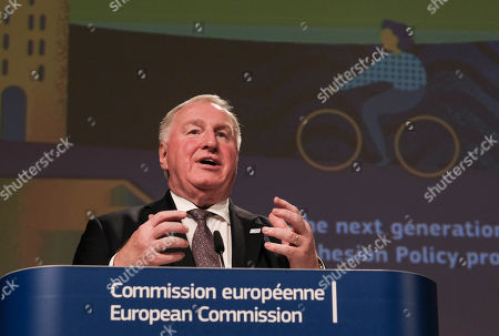 European Committee of the Regions  President, Belgium, Karl-Heinz Lambertz gives a press conference on future of Cohesion policy programmes, in Brussels, Belgium, 08 October 2018.