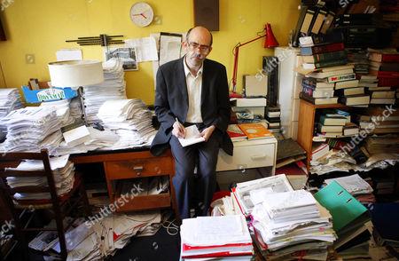 Editorial photo of Benjamin Pell, aka 'Benji The Binman', at home in Finchley, London, Britain - 24 Jul 2009