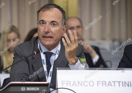 CiO Special Representative for the Transdniestrian Settlement Process, Franco Frattini, Alessandro Azzoni, during the meeting of the 'Political Directors of The Organization for Security and Co-operation in Europe (OSCE) Participating States' at the Farnesina in Rome, Italy, 08 October 2018.