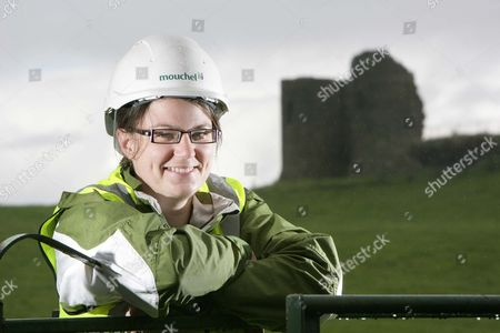 Editorial image of Archaeologist Deirdre Gleeson at Harry Avery's Castle in Newtownstewart, Northern Ireland., Britain - Aug 2009