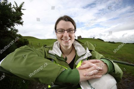 Editorial picture of Archaeologist Deirdre Gleeson at Harry Avery's Castle in Newtownstewart, Northern Ireland., Britain - Aug 2009