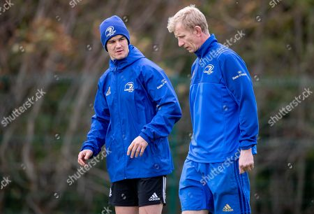 Jonathan Sexton with head coach Leo Cullen