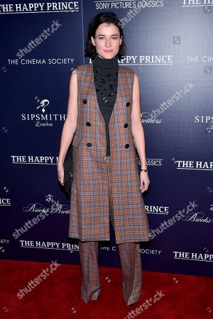 Editorial picture of 'The Happy Prince' film screening, Arrivals, New York, USA - 08 Oct 2018