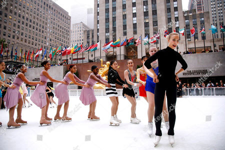 Five-time Finnish national champion figure skater Kiira Korpi hosts a ceremonial first skate marking the 82nd season opening of The Rink at Rockefeller Center, in New York. Korpi was joined on the most famous ice rink in the world by rising youth skaters from Ice Theatre of New York and Figure Skating in Harlem