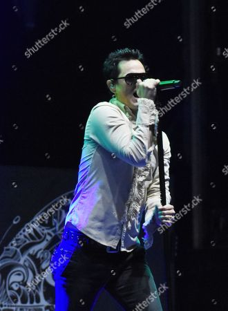 Jeff Gutt vocalist of American band Stone Temple Pilots seen performs on stage as part of Force Fest 2018 music Festival at Teotihuacan Golf Club on October 07, 2018 in Teotihuacan, Mexico