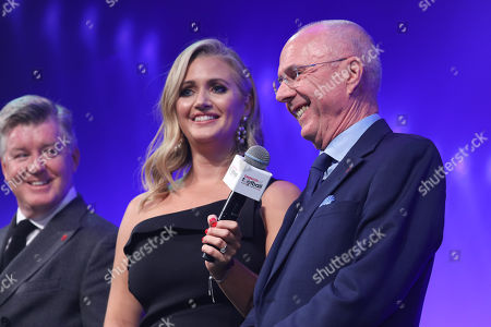 Geoff Shreeves, Hayley McQueen and Sven-Goran Eriksson