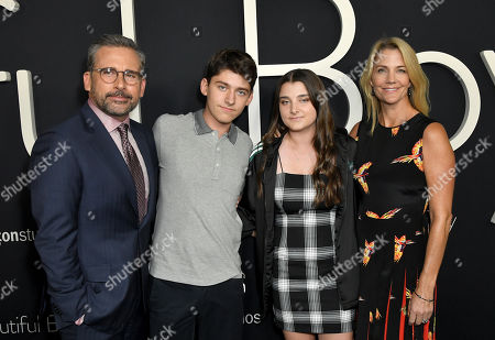 Steve Carell, John Carell, Elisabeth Anne Carell and Nancy Carell