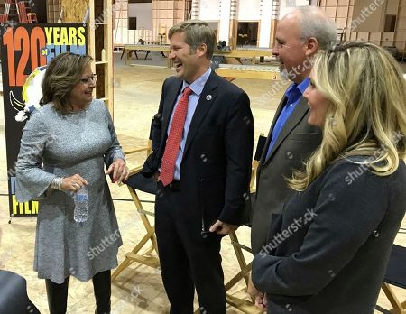 New Mexico. Gov. Susana Martinez, from left, Albuquerque Mayor Tim Keller, Gov. Susana Martinez, Netflix vice president for physical production Ty Warren and Albuquerque film liaison Alicia Keyes talk following a news conference at ABQ Studios in Albuquerque, N.M., on . Netflix announced it has chosen Albuquerque as its new production hub and is in the process of buying an existing studio complex that includes several sound stages, offices and a back lot