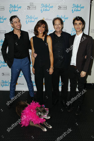 Nat Wolff, Polly Draper, Michael Wolff and Alex Wolff with Stella