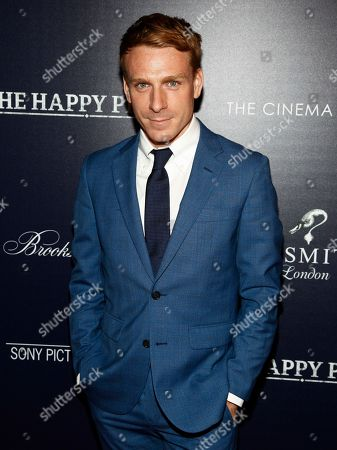 """Edwin Thomas attends a special screening of """"The Happy Prince"""", hosted by Sony Pictures Classics and The Cinema Society, at iPic Cinema, in New York"""