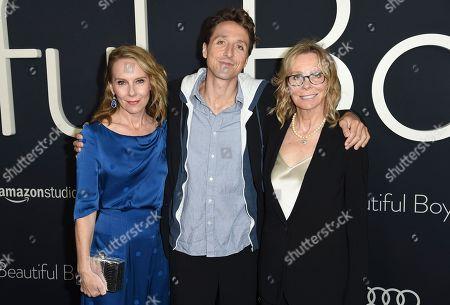 "Amy Ryan, Nic Sheff, Vicki Sheff. Amy Ryan, from left, Nic Sheff and Vicki Sheff arrive at the premiere of ""Beautiful Boy"", at the Samuel Goldwyn Theater in Beverly Hills, Calif"
