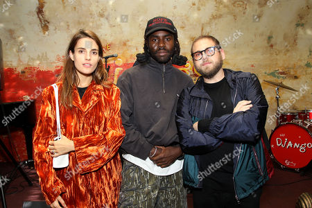 Stock Photo of Samantha Urbani, Dev Hynes, Jonah Hill