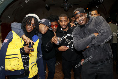 Stock Picture of Styles P, Q-Tip, and Sean Divine Jacobs with Guests