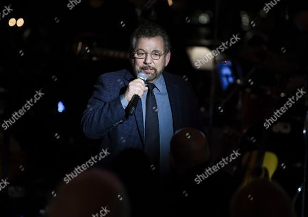 Stock Image of Executive chairman and CEO of The Madison Square Garden Company, Jim Dolan, speaks at the Facing Addiction with NCADD (National Council on Alcoholism and Drug Dependence) gala at the Rainbow Room, in New York