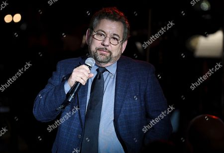 Stock Photo of Executive chairman and CEO of The Madison Square Garden Company, Jim Dolan, speaks at the Facing Addiction with NCADD (National Council on Alcoholism and Drug Dependence) gala at the Rainbow Room, in New York