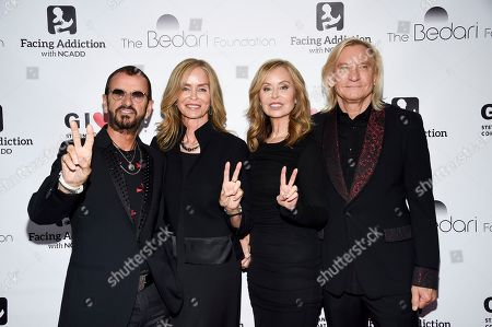 Ringo Starr, Barbara Bach, Marjorie Bach Walsh, Joe Walsh. Sir Ringo Starr, left, his wife Barbara Bach, honorees Marjorie Bach Walsh and husband Joe Walsh pose together at the Facing Addiction with NCADD (National Council on Alcoholism and Drug Dependence) gala at the Rainbow Room, in New York