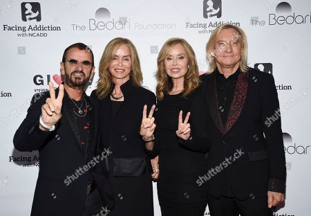 Ringo Starr, Barbara Bach, Marjorie Bach Walsh, Joe Walsh. Sir Ringo Starr, from left, his wife Barbara Bach, honorees Marjorie Bach Walsh and husband Joe Walsh pose together at the Facing Addiction with NCADD (National Council on Alcoholism and Drug Dependence) gala at the Rainbow Room, in New York