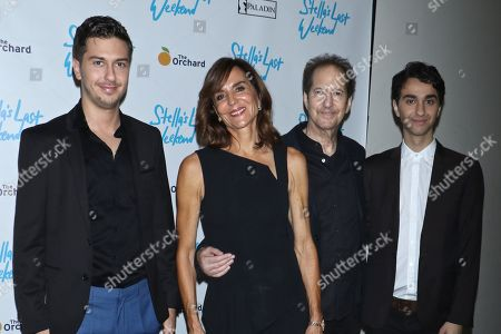 Nat Wolff, director Polly Draper, composer Michael Wolff and Alex Wolff