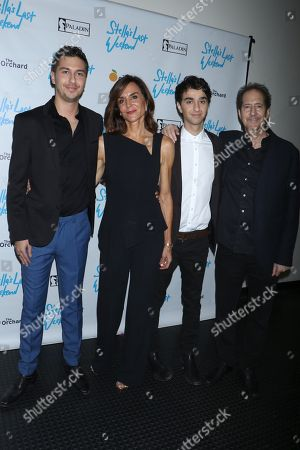 Nat Wolff, Polly Draper, Alex Wolff and Michael Wolff