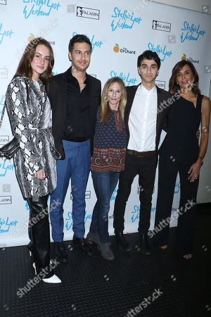 Grace Van Patten, Nat Wolff, Holly Hunter, Alex Wolff and Polly Draper, director