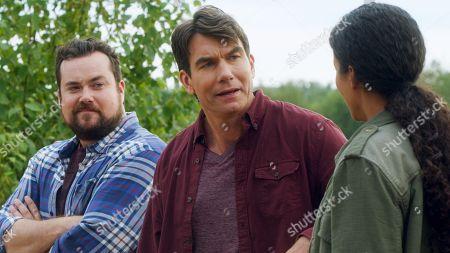 Kristian Bruun as Dave Leigh, Jerry O'Connell as Harley Carter, Sydney Tamiia Poitier as Sam Shaw
