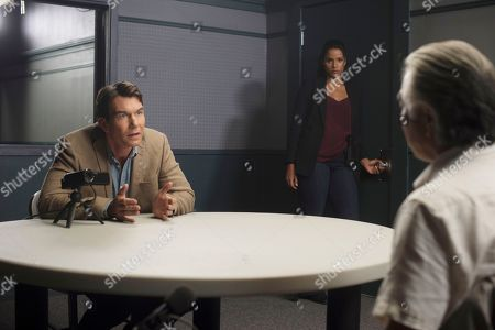 Stock Picture of Jerry O'Connell as Harley Carter, Sydney Tamiia Poitier as Sam Shaw, Denis Akiyama as Koji Yasuda