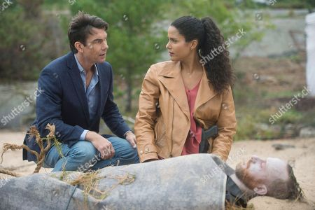 Stock Photo of Jerry O'Connell as Harley Carter, Sydney Tamiia Poitier as Sam Shaw