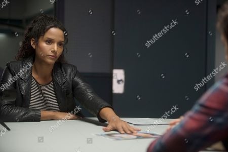 Stock Picture of Sydney Tamiia Poitier as Sam Shaw